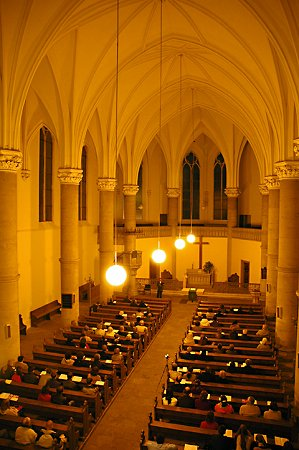 Interiér Červeného kostela